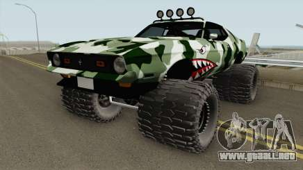 Ford Mustang Off Road Camo Shark 1971 para GTA San Andreas