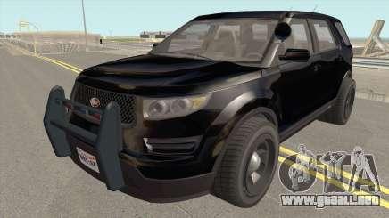 Vapid Police Cruiser Unmarked GTA V para GTA San Andreas