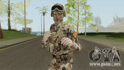Chinese Peoples Liberation Army (Type 07 Desert) para GTA San Andreas