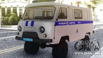 UAZ Buhanka - Deber de la Parte para GTA San Andreas