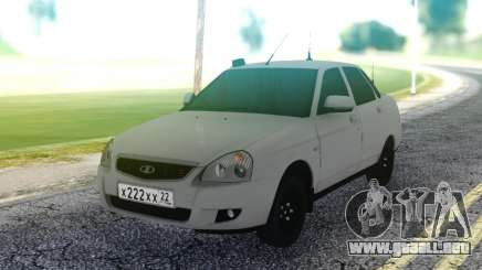 Lada Priora White Sedan para GTA San Andreas