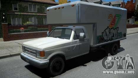 Vapid Sadler Retro Box Truck para GTA 4