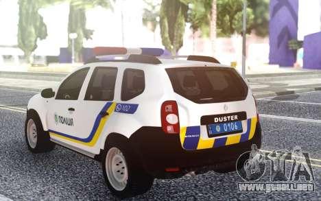 El Renault Duster Policía De Ucrania para GTA San Andreas