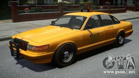 Vapid Stanier Classic Taxi para GTA 4