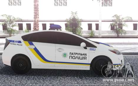 Toyota Prius Patrulla De La Policía De Ucrania para GTA San Andreas