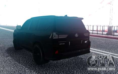 Lexus LX570 Superior Black Edition para GTA San Andreas