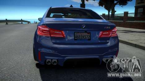 BMW M5 F90 2018 para GTA 4