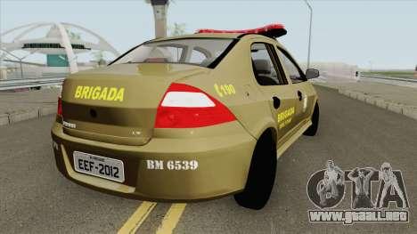 Chevrolet Prisma Brazilian Police para GTA San Andreas