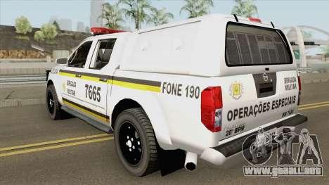 Nissan Frontier Brazilian Police (Clean) para GTA San Andreas