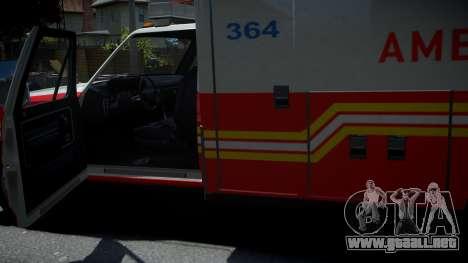 Vapid Ambulance Retro para GTA 4