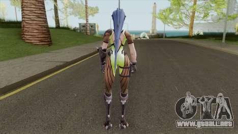 Widowmaker Green Battle Suit para GTA San Andreas