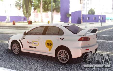 Mitsubishi Lancer Evolution X Yandex Taxi para GTA San Andreas
