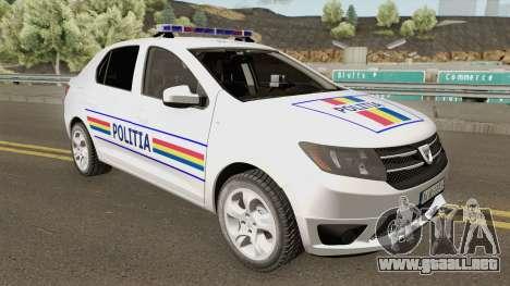 Dacia Logan 2 2016 Politia Romana para GTA San Andreas
