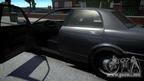 Vapid Stanier Unmarked Cruiser para GTA 4