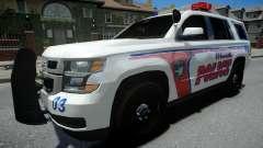 Chevrolet Tahoe Woodville Police 2015 para GTA 4