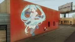 Graffiti De Hatsune Miku para GTA San Andreas