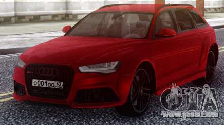 Audi RS6 Avant Red para GTA San Andreas