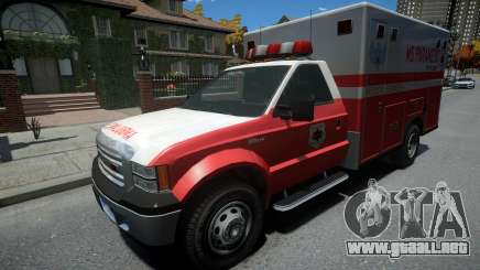 Vapid Sadler Ambulance Non-ELS para GTA 4