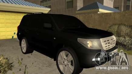Toyota Land Cruiser 200 2008 Black para GTA San Andreas
