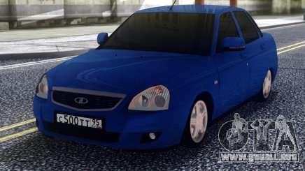 VAZ 2170 Priora Azul para GTA San Andreas