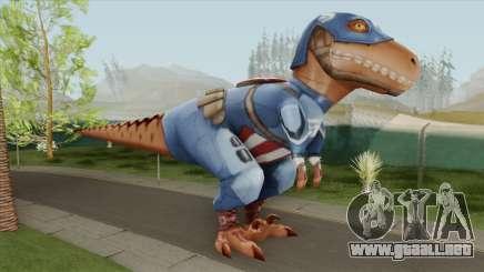 T-Rex Captain America From Avengers Academy para GTA San Andreas