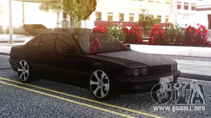 BMW 740i E38 BLACK para GTA San Andreas