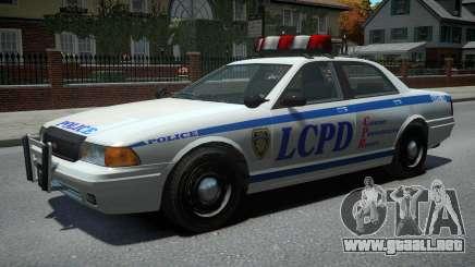 Vapid Police Cruiser v1.2 para GTA 4