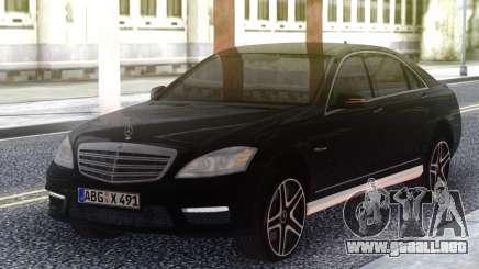 Mercedes-Benz S65 AMG 2012 Black para GTA San Andreas