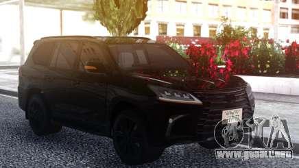 Lexus LX570 2016 BLACK para GTA San Andreas