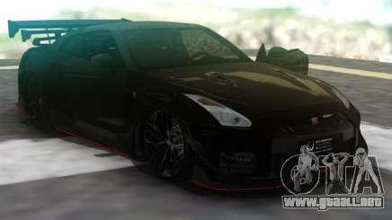 Nissan GT-R R35 Black para GTA San Andreas