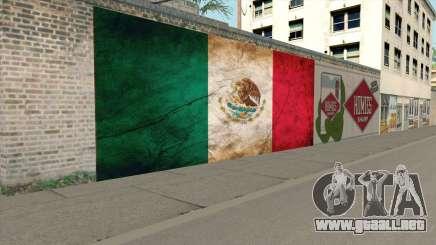 Graffiti De La Bandera De Mexico para GTA San Andreas