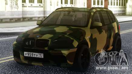 BMW X5M Dima Gordey (Camuflaje) para GTA San Andreas