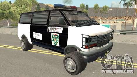 Declasse Burrito Police Transport R.P.D para GTA San Andreas