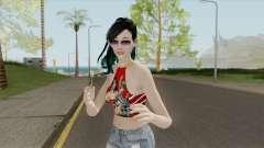 Samantha Red Shirt para GTA San Andreas