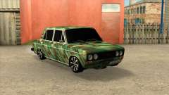 VAZ 2106 Sedán de Camuflaje para GTA San Andreas