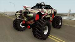 Nissan Skyline R32 Monster Truck Camo Shark MQ para GTA San Andreas