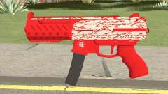 Submachine Gun MK2 (Red Woodlums) para GTA San Andreas