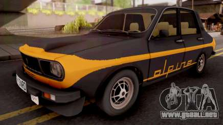 Renault 12 Alpine Black para GTA San Andreas