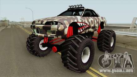 Nissan Skyline R32 Monster Truck Camo Shark para GTA San Andreas