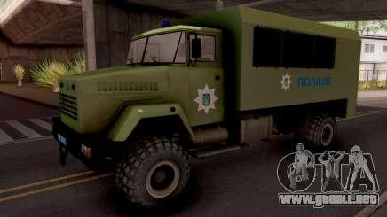 KrAZ-6322 De La Policía De Ucrania para GTA San Andreas