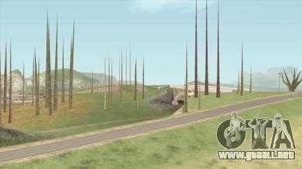 Vegetation Off para GTA San Andreas