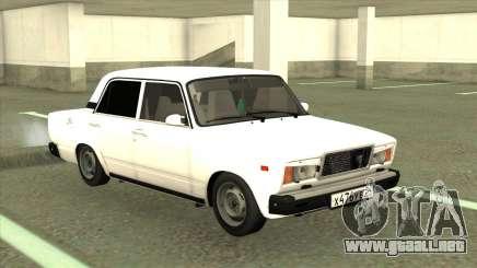 VAZ 2107 Sedán Blanco para GTA San Andreas