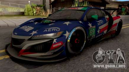 Acura NSX R3 2018 para GTA San Andreas