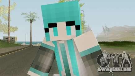 Hatsune Miku (Minecraft) para GTA San Andreas