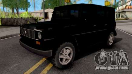 Benefactor Dubsta Black para GTA San Andreas