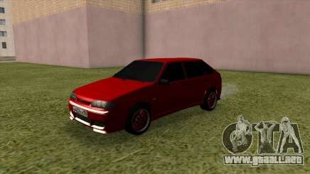 VAZ 2114 Optimización Rojo para GTA San Andreas