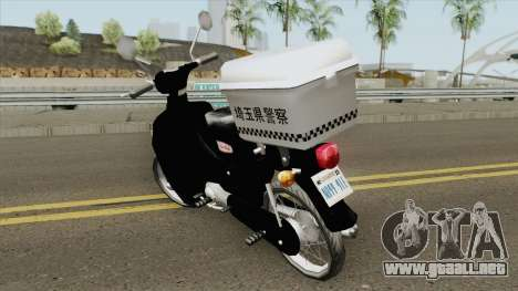 Honda Super Cub Police Version A para GTA San Andreas