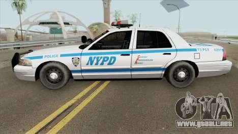 Ford Crown Victoria - Police NYPD v2 para GTA San Andreas
