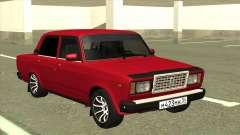 VAZ 2107 Sedán Rojo para GTA San Andreas