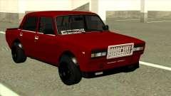 Rojo VAZ 2107 de Combate Clásico para GTA San Andreas